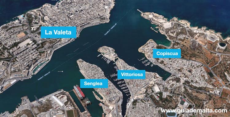 mapa-tres-ciudades-malta